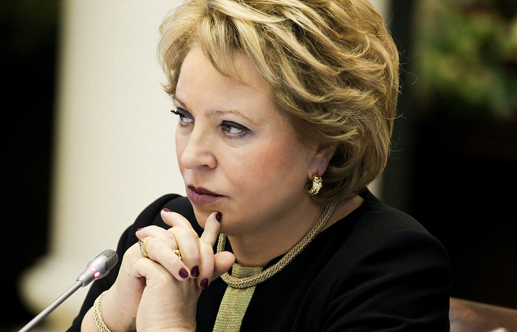 Russia's Federation Council chairperson Valentina Matviyenko