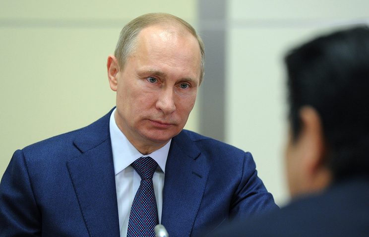 Russian President Vladimir Putin at the meeting with Japanese Prime Minister Shinzo Abe (archive)