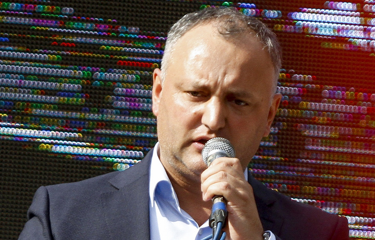Igor Dodon, the leader of Moldova's Party of Socialists