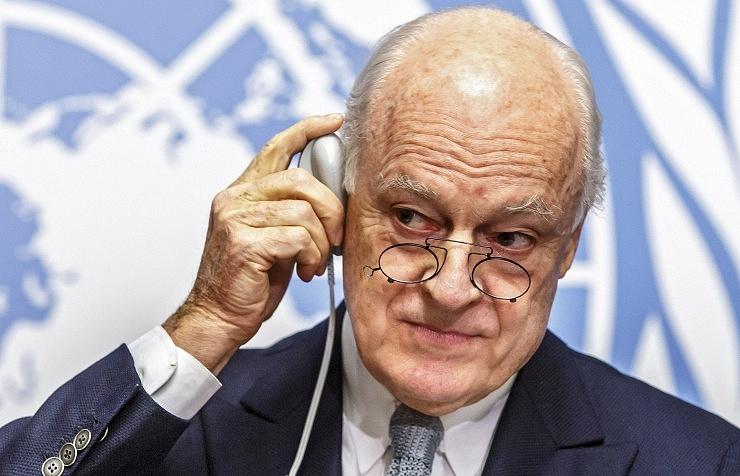 The UN special envoy on Syria, Staffan de Mistura