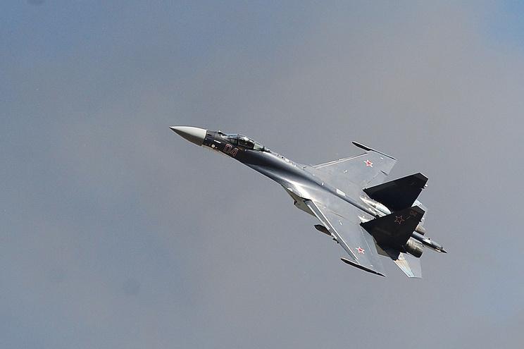 A Sukhoi Su-27 Flanker fighter