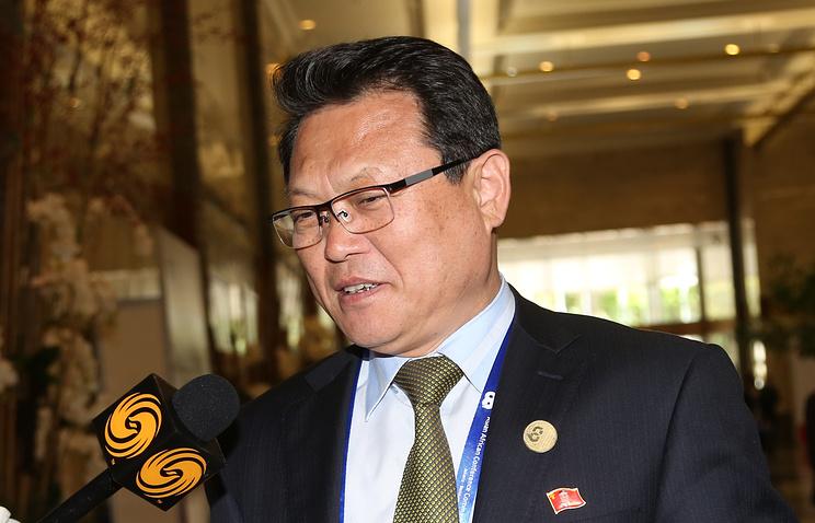North Korean Deputy Foreign Minister Pak Myong-guk