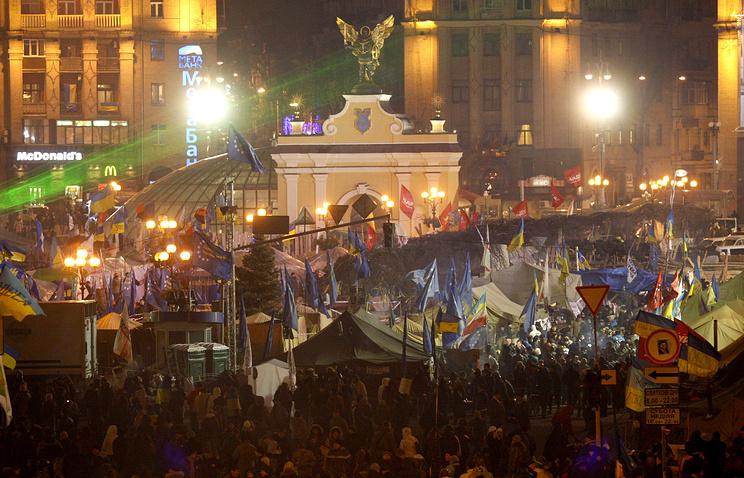 Kiev's Independence Square in December 2013