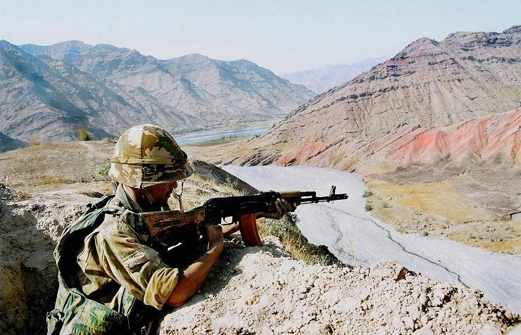 Еraining at Russia's 201st military base in Tajikistan