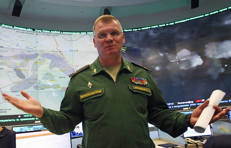 Spokesman of the Russian Defense Ministry Major General Igor Konashenkov
