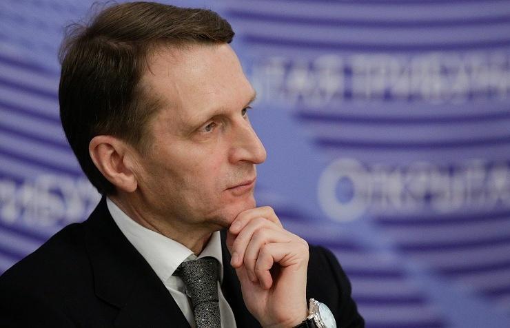 Russia's Duma Speaker Sergei Naryshkin