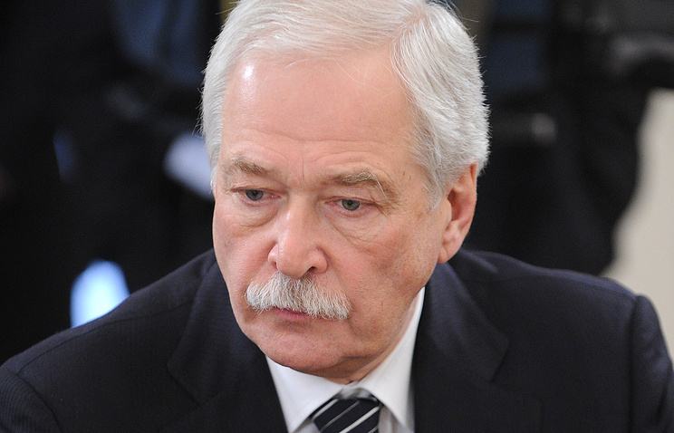 Russia's envoy to the Contact Group on settlement in Ukraine's east Boris Gryzlov