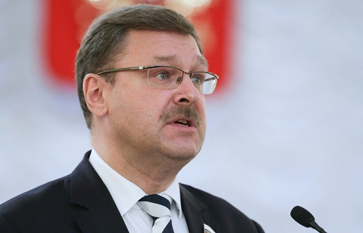 Russian Federation Council's International Affairs Committee chairman Konstantin Kosachev