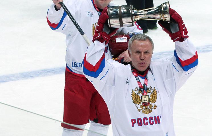 Russia's ice hockey legend Vyacheslav Fetisov