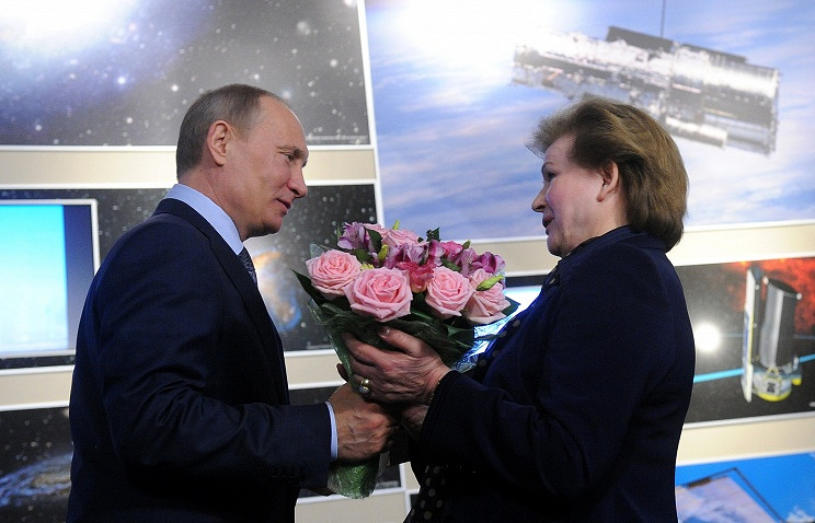 Vladimir Putin and Valentina Tereshkova