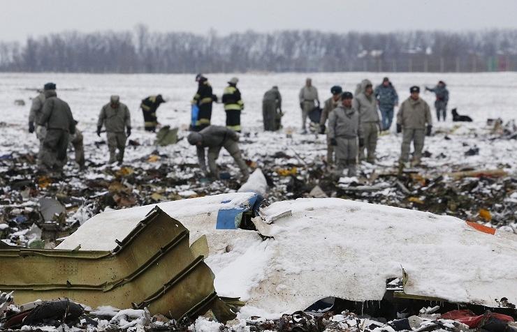 FlyDubai Boeing's crash site