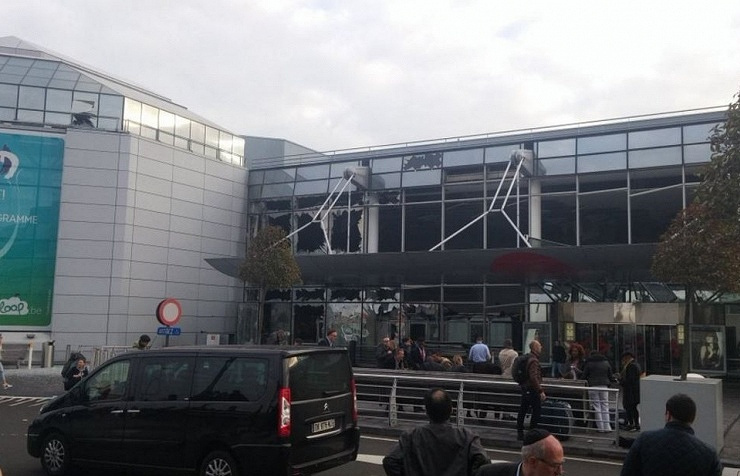 Aftermath of blasts at Zaventem airport, Brussels