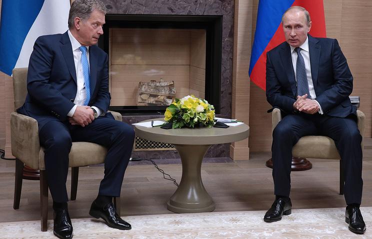 Sauli Niinisto and Vladimir Putin