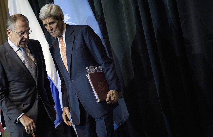 Sergey Lavrov and John Kerry