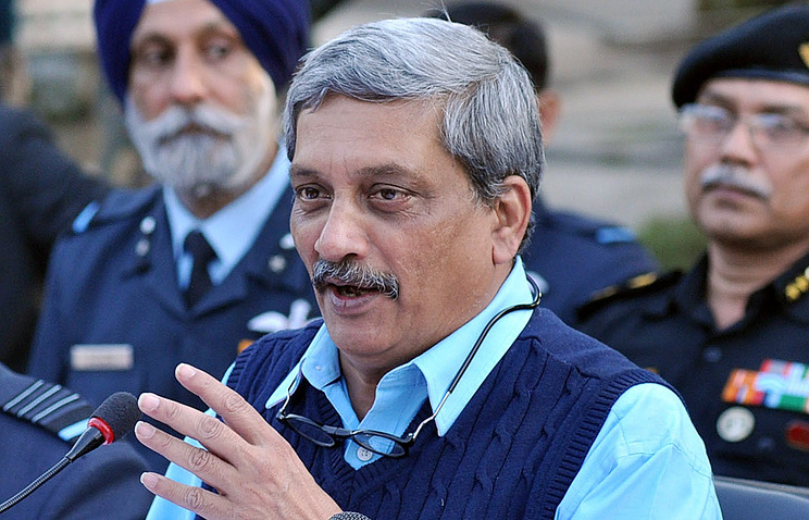 India's Defense Minister Manohar Parrikar