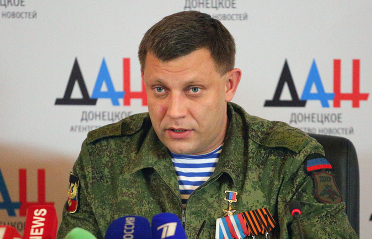 Alexander Zakharchenko, head of the Donetsk People's Republic (DPR)