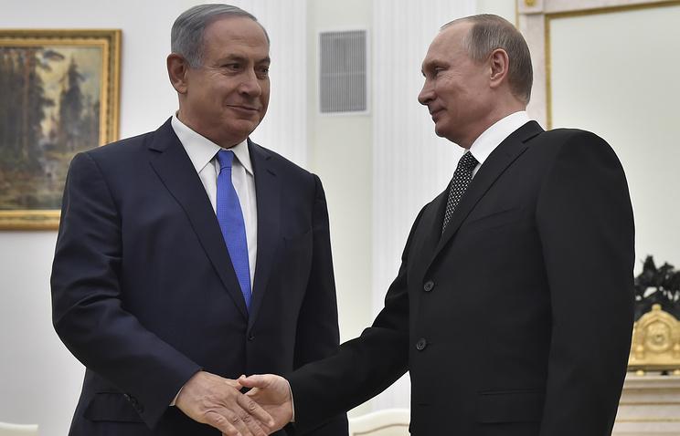 Israel's Prime Minister Benjamin Netanyahu and Russian President Vladimir Putin