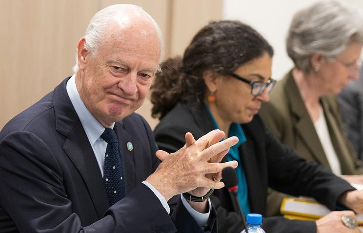 UN Secretary-General's special envoy for Syria Staffan de Mistura