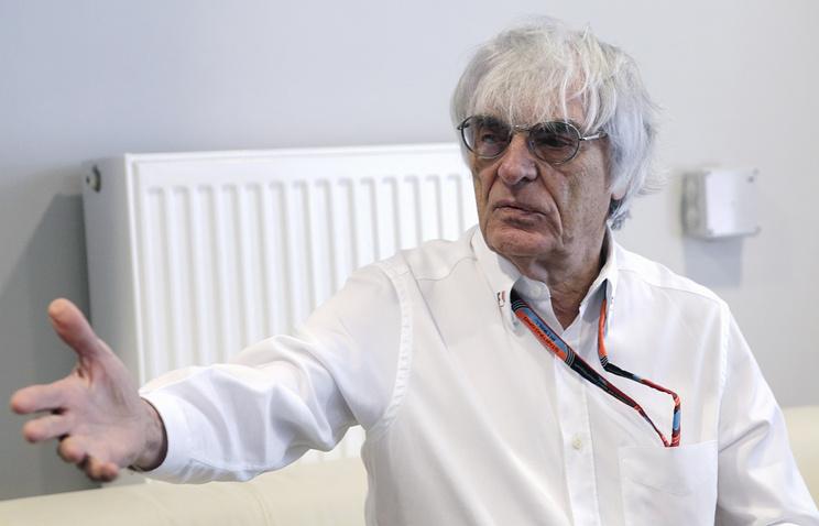 Formula One chief executive Bernie Ecclestone