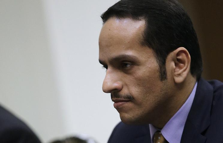 Qatari Foreign Minister Sheikh Mohammed bin Abdulrahman Al-Thani