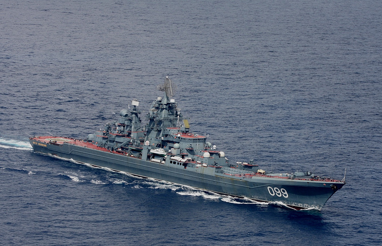 The Pyotr Veliky heavy nuclear-powered missile cruiser