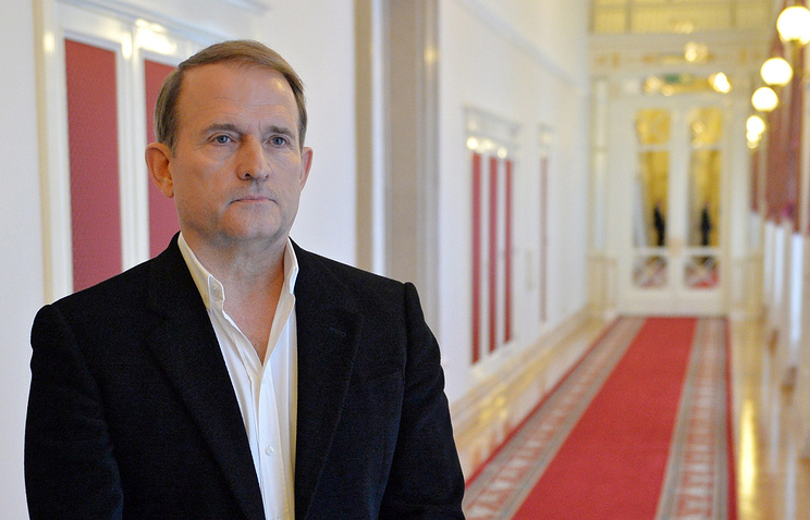 Kiev's envoy to the Contact Group's humanitarian subgroup Viktor Medvedchuk