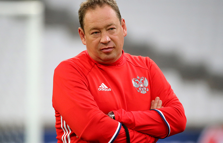 The head coach of the Russian national football team, Leonid Slutsky