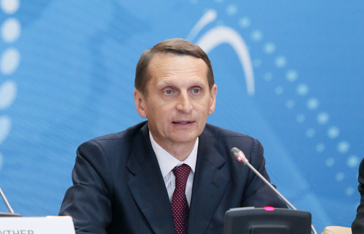 Speaker of Russia's State Duma lower parliament house Sergey Naryshkin