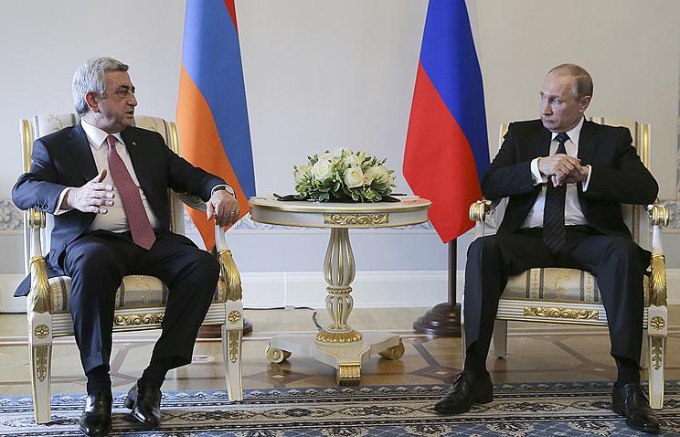 Serzh Sargsyan and Vladimir Putin