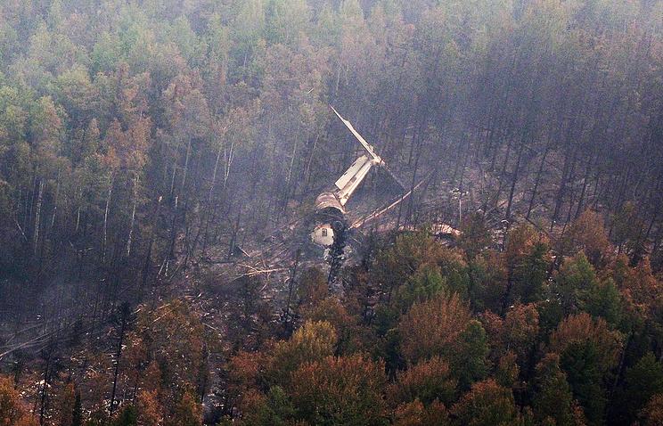 The Il-76 crash site in Irkutsk region