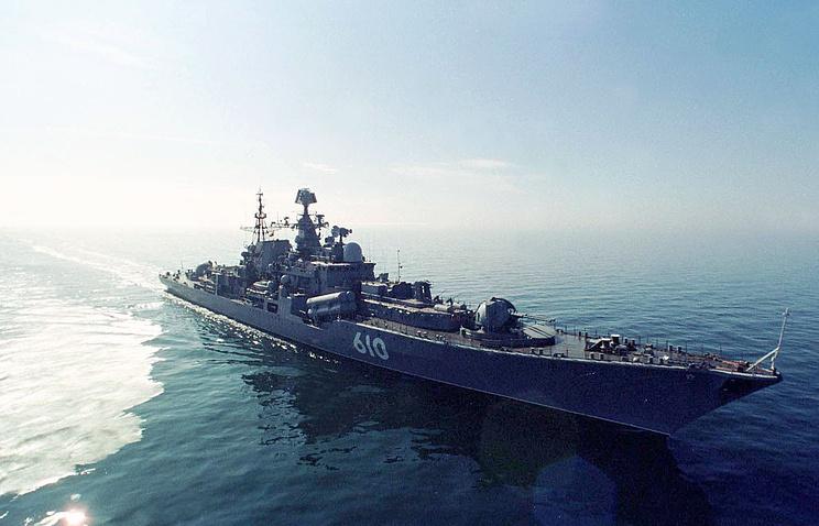 Baltic Fleet's flagship destroyer Nastoichivy