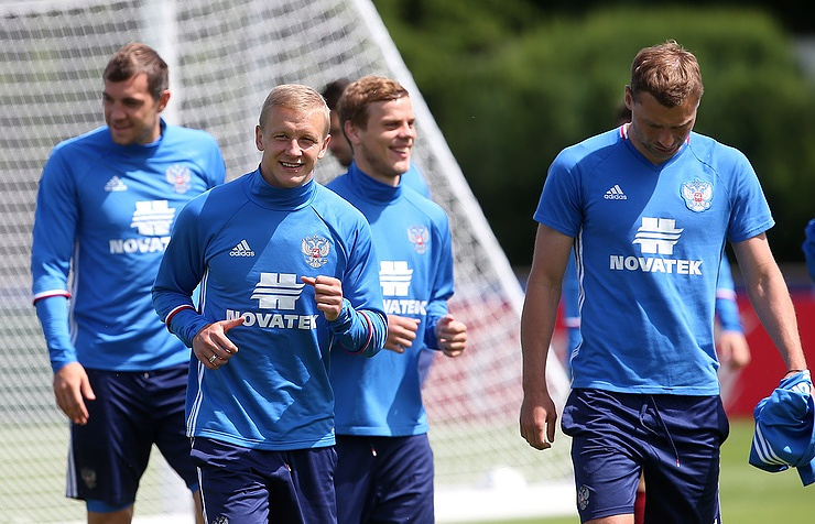 Russian football players