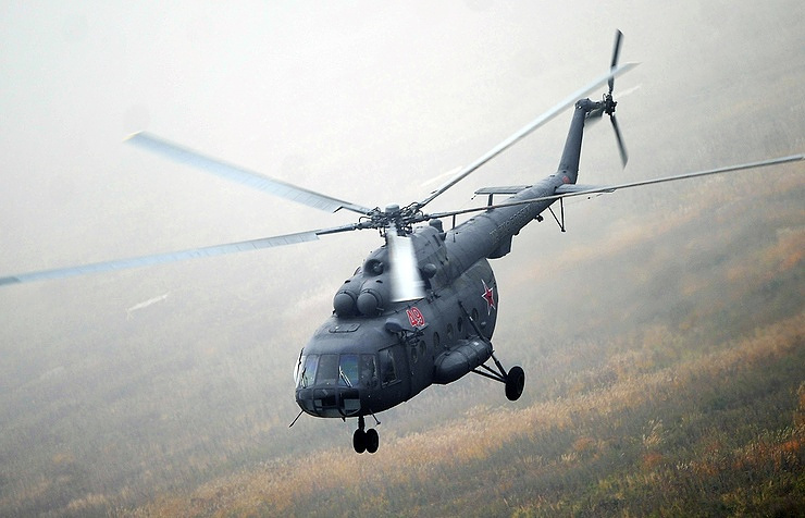 Russia's military transport helicopter Mi-8