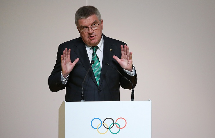 Thomas Bach, the president of the International Olympic Committee