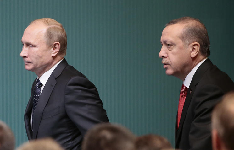 Russian President Vladimir Putin and Turkish President Recep Tayyip Erdogan, December 1, 2014
