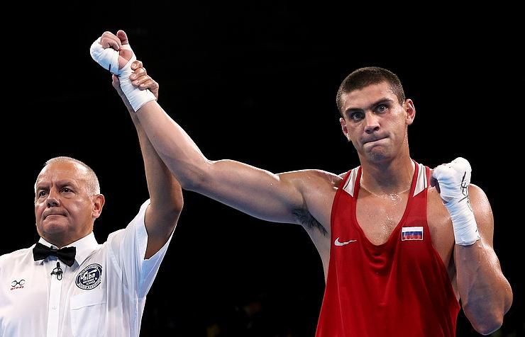 Russia's boxer Yevgeny Tishchenko