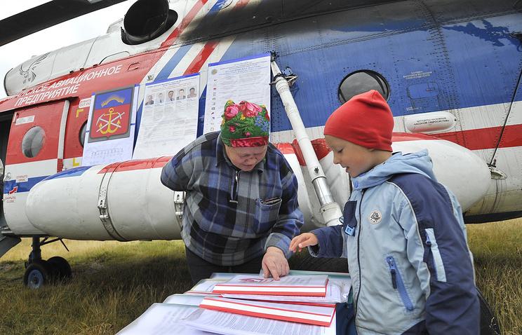 Early voting in Russia's Murmansk region