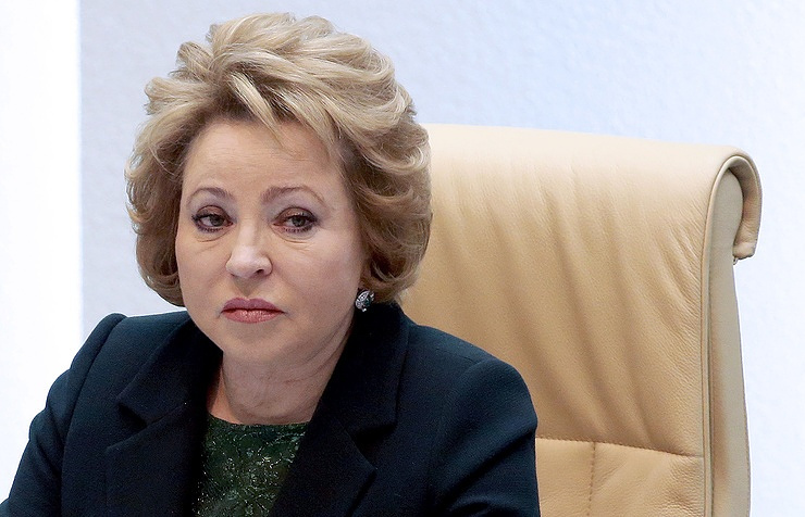 Valentina Matviyenko, the speaker of the upper house of the Russian parliament