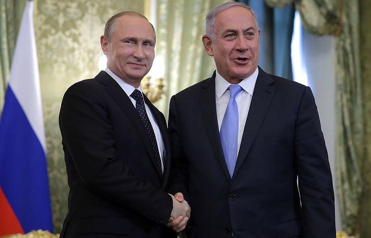 Russian President Vladimir Putin and Israeli Prime Minister Binyamin Netanyahu