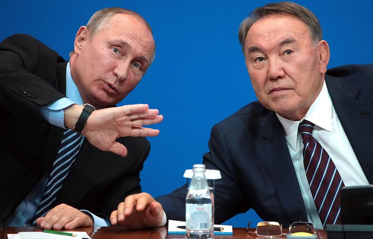 Vladimir Putin and Nursultan Nazarbaev