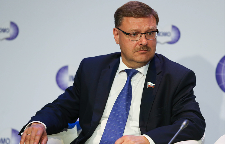 Chairman of Russian Federation Council's Foreign Affairs Committee Konstantin Kosachev