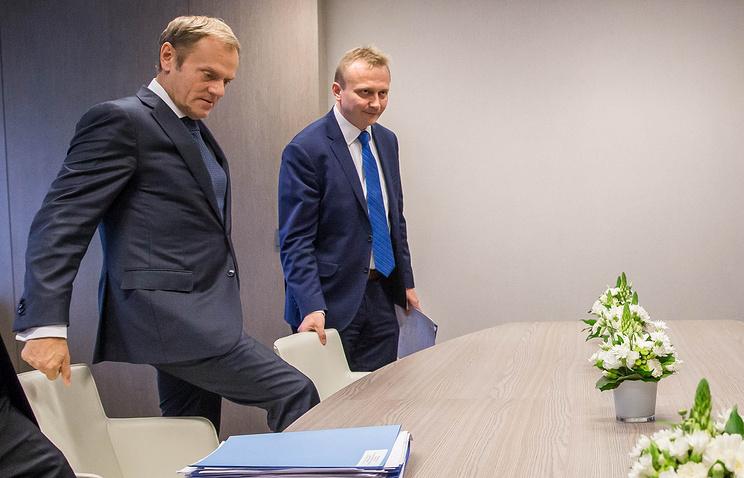 EU council President Donald Tusk ahead of  European Summit in Brussels, Belgium