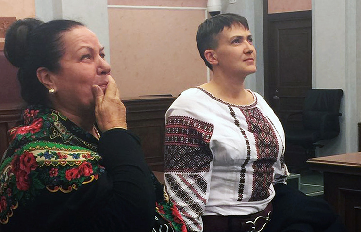 Nadezhda Savchenko (right)