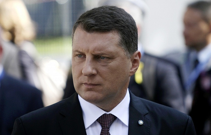 Latvia's President Raimonds Vejonis