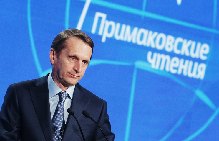 Russia's Foreign Intelligence Service Director Sergei Naryshki