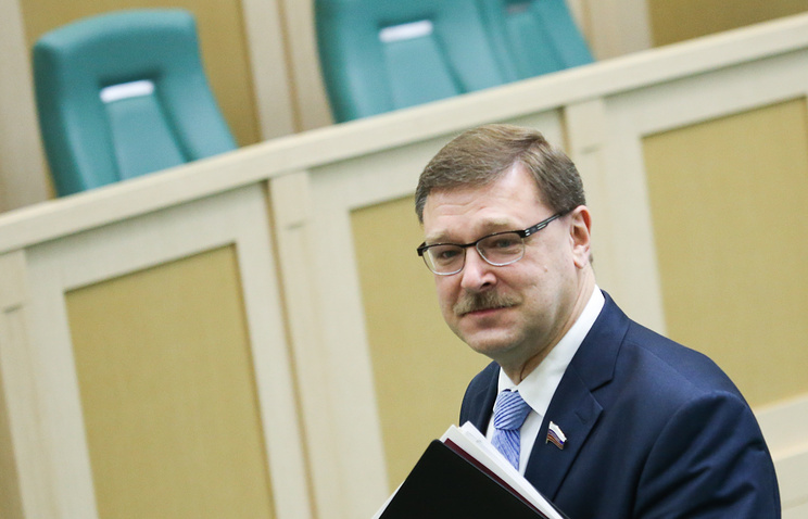 Chairman of the Russian Federation Council's Committee for International Affairs Konstantin Kosachev