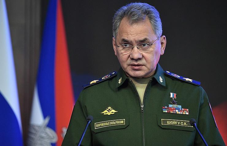 Russia's Defense Minister Sergey Shoigu
