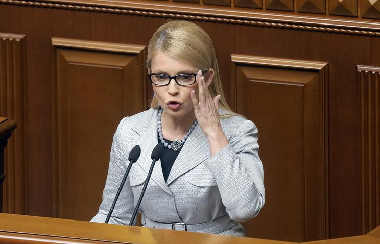 Former Ukrainian Prime Minister Yulia Timoshenko