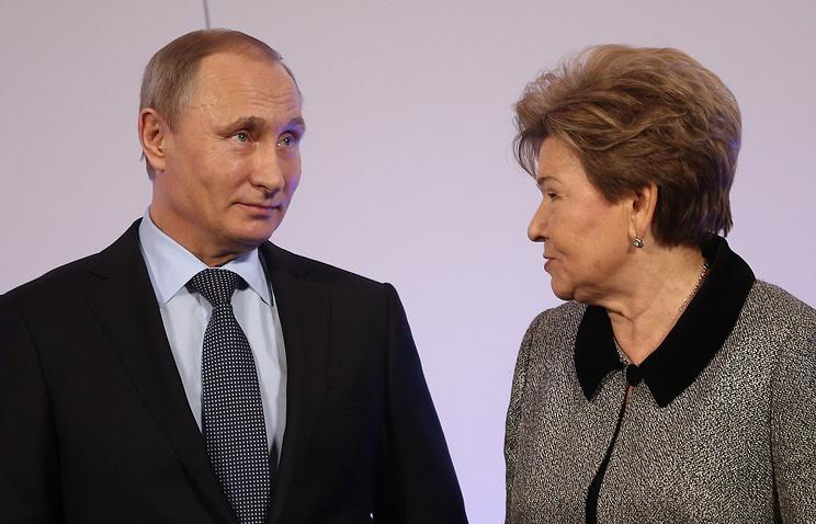 Russian President Vladimir Putin and Naina Yeltsina