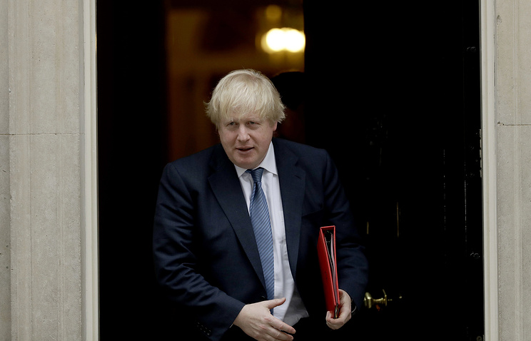 British Foreign Secretary Boris Johnson